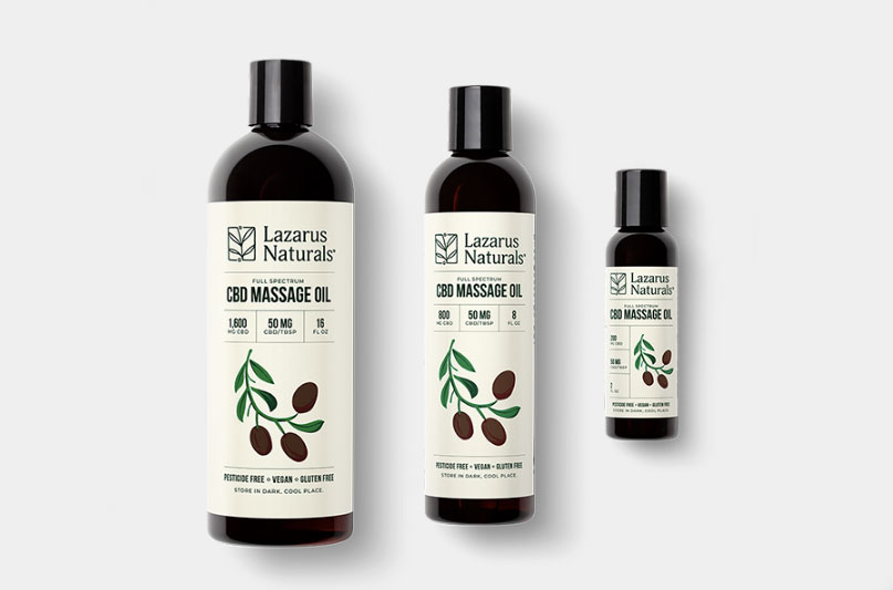 Lazarus CBD Massage Oil