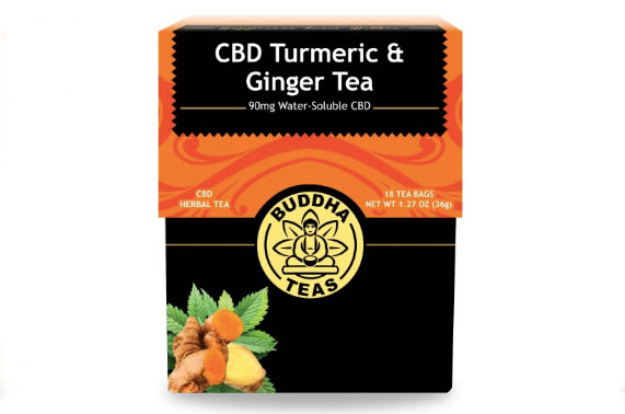 CBD Turmeric And Ginger Tea By Buddha Teas